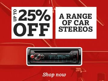 Up To 25% Off a Range of In Car Stereos